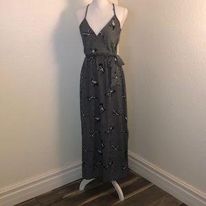 Flying Crane Maxi dress